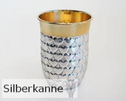 Herzbecher H 9 cm innen vergoldet, Sterling Silber 925