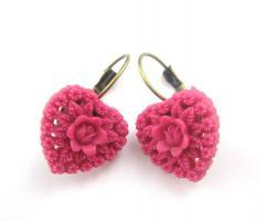 Herzens-Rosen Ohrringe