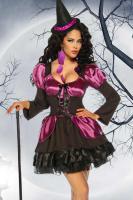 Hexen-Kostüm schwarz/lila Gr. S-M - OVP - NEU