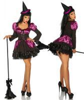 Foto 2 Hexen-Kostüm schwarz/lila Gr. S-M - OVP - NEU
