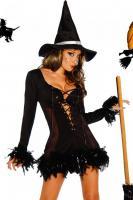 Hexen-Kostüm, 2tlg. sexy, feminin, atemberaubend