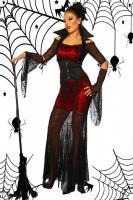Hexen-Kostüm, einzigartig auffällig, Spinnennetz-Stoff