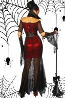 Foto 2 Hexen-Kostüm, einzigartig auffällig, Spinnennetz-Stoff