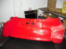Hintere Stoßstange Toyota Aygo rot