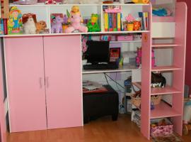 hochbett schreibtisch kleiderschrank weiss rosa in bad. Black Bedroom Furniture Sets. Home Design Ideas