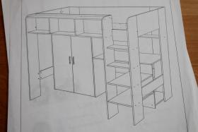 hochbett schreibtisch kleiderschrank weiss rosa in bad gandersheim wenge. Black Bedroom Furniture Sets. Home Design Ideas