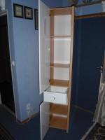 Foto 4 Hochschrank auch für Feuchtraum Buche / weiss kombiniert