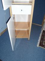 Foto 6 Hochschrank auch für Feuchtraum Buche / weiss kombiniert