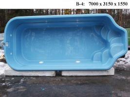 Hochwertige GFK - Schwimmbecken zum Erdeinbau