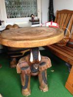 Hochwertige Sitzgruppe aus afrikanischen Edelholz
