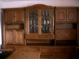 Hochwertige Wohnzimmergarnitur Eiche rustikal