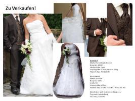 Hochzeitsanzug Größe 50 Marke: Wilvorst dunkelbraun gestreift