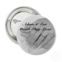 Hochzeitsbuttons mit Motiv & Name & Datum