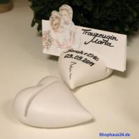 Hochzeitsgeschenke in Zernsdorf kaufen, Kartenhalter Herz 4 Stück
