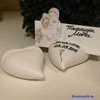 Foto 3 Hochzeitsgeschenke in Zernsdorf kaufen, Kartenhalter Herz 4 Stück