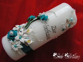 Hochzeitskerze ''Calla Lily'' 185x60