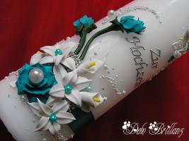 Foto 3 Hochzeitskerze ''Calla Lily'' 185x60