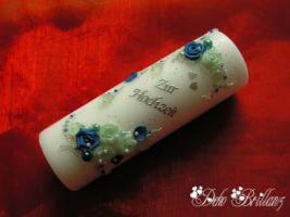 Hochzeitskerze ''Eiskristall'' 185x60
