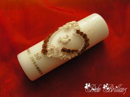 Hochzeitskerze ''Golden Idylle'' 185x60
