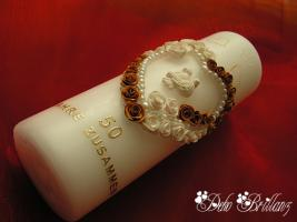 Foto 2 Hochzeitskerze ''Golden Idylle'' 185x60