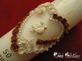 Foto 3 Hochzeitskerze ''Golden Idylle'' 185x60
