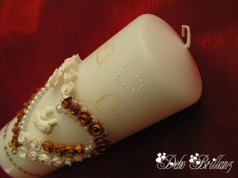 Foto 4 Hochzeitskerze ''Golden Idylle'' 185x60