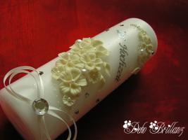 Foto 2 Hochzeitskerze ''Mondlicht'' 185x60 weißer Phosphor, Nachtleuchtend