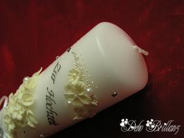 Foto 4 Hochzeitskerze ''Mondlicht'' 185x60 weißer Phosphor, Nachtleuchtend