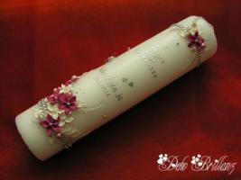 Foto 8 Hochzeitskerze ''Silberschatz'' 185x60