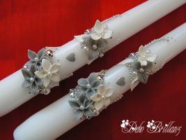 Foto 11 Hochzeitskerze ''Silberschatz'' 185x60