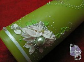 Foto 3 Hochzeitskerze ''Smaragd'' 185x60