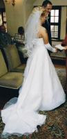 Foto 2 Hochzeitskleid Brautkleid traumhaft mit langer Schleppe Gr.38