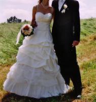 Foto 2 Hochzeitskleid (Gr.36/38)- cremefarbener Traum aus Tüll und Spitze
