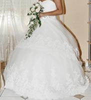 Foto 2 Hochzeitskleid mit Schleier