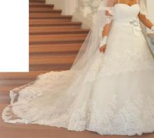 Foto 3 Hochzeitskleid mit Schleier