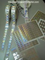 Hologrammetiketten, Etikette, Hologramme