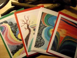 Foto 17 Holz-Speckstein- Lederarbeiten, Gemälde, Karten, das  Buch KOPFSALAT