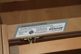 Foto 3 Holzbett aus Kiefer ca. 90x190 cm  mit Federholzrahmen ''Cortina'' und Matraze