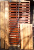 Holzbett mit Lattenrost Fuß u. Kopfteil verstellbar