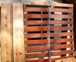 Foto 2 Holzbett mit Lattenrost Fuß u. Kopfteil verstellbar