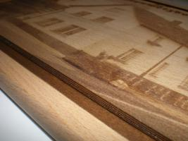 Foto 2 Holzbild auf Brett - Lasergravur - Ihr Wunschmotiv