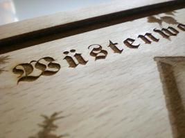 Foto 3 Holzbild auf Brett - Lasergravur - Ihr Wunschmotiv