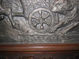 Holzbild mit Eichenrahmen