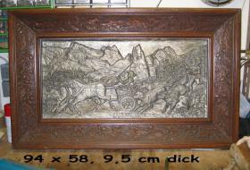 Foto 2 Holzbild mit Eichenrahmen