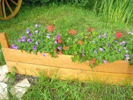 Foto 5 Holzboot zum Bepflanzen