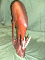 Foto 2 Holzfigur Gazelle , ANtilope , geschnitzt Afrika