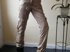 Foto 2 Hose von Vero Moda, ,Beige mit Glanz, ,, mit vielen Taschen und Bänder