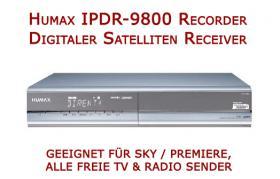 Foto 3 Humax Twin-Sat-Receiver IPDR 9800 mit 160 GB Festplatte