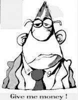 Foto 5 Humor auf Mauspads - der Pleitegeier, der ausgeplünderte Steuerzahler, der geldgierige Konzernboß