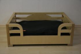 Foto 2 Hundebett aus Multiplex-Holz Birke für Französische Bulldogge, Mops etc.